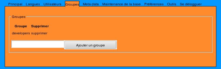 Admin group management