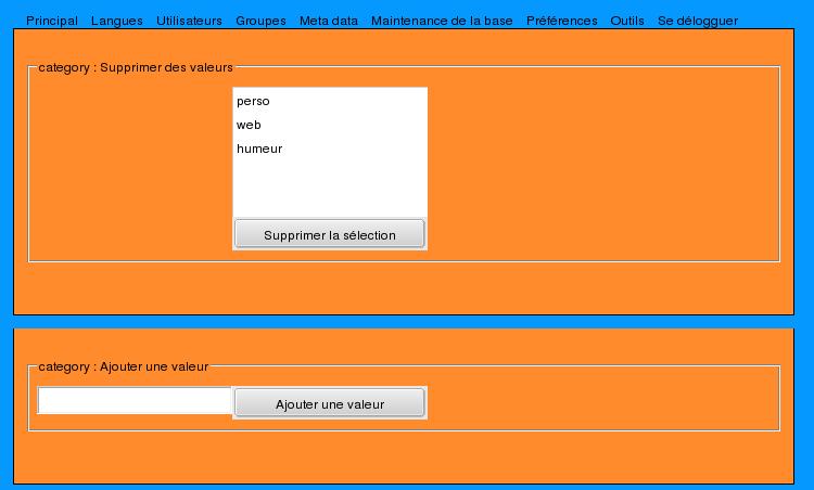 Admin view metadata