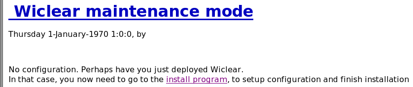 Maintenance mode message after deployment